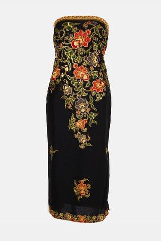 0021 Dress, Tube mid length                 Size : L