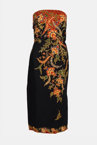 0011 Dress, Tube mid length                  Size : S