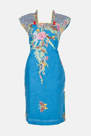 0030 Qi Pao Kimono neckline            Size : M
