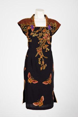 0035 Qi Pao Kimono neckline         Size : XL