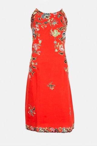 0100  Dress w/side print Braided     Size : XXL