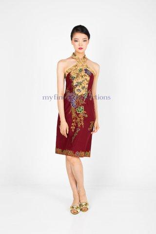 20128  Dress Cross-neckline                    Size : S to 2XL
