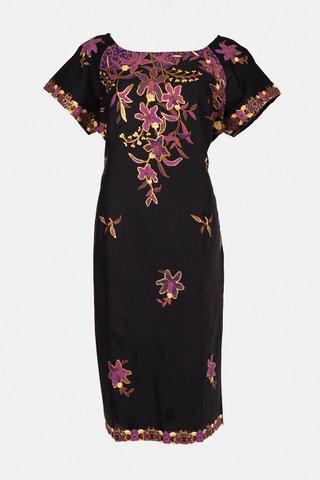 30090     Dress, w/boat neckline Size : XL