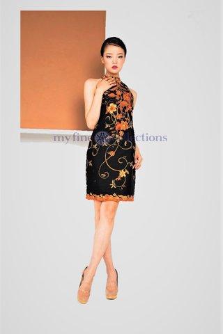 20068  Dress Halter Neckline Sleeveless            Size : S to 2XL